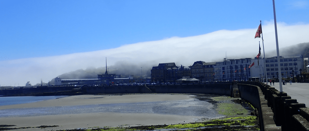 Isle of Man Douglas. The Island Fog when I went to a wedding.
