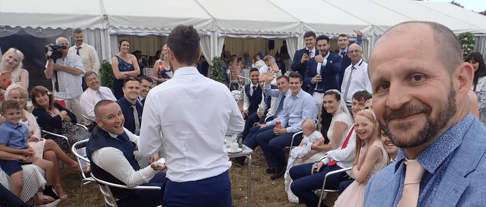 Isle of Man Wedding entertaining in the evening with magic
